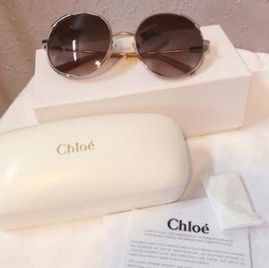 NWT!! Chloe Gradient Rose Gold Sunglasses